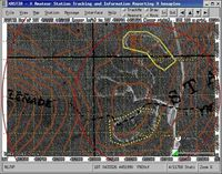 """ICS and SAR Objects on air photo with contour lines from DRG"""